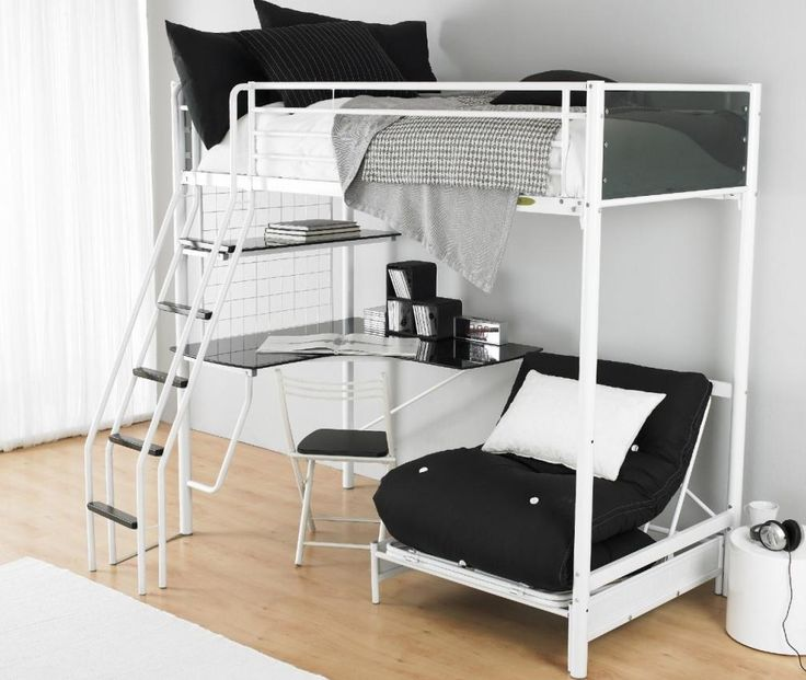Bedroom, Best Design Of Teen Loft Beds A Collection Of Cool Teenage Bunk Bed Ideas Amazing White Frame With White Wall And White Glass Window And Brown Wooden Floor White Carpet Ideas: Sweet Mode Of Bunk Beds For Teenager By Using Modern Design Looked More Charming