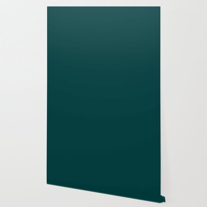 Dark Teal Wallpaper By Color Obsession 2 X 4 Teal Wallpaper Teal Wallpaper Accent Wall Peel And Stick Wallpaper