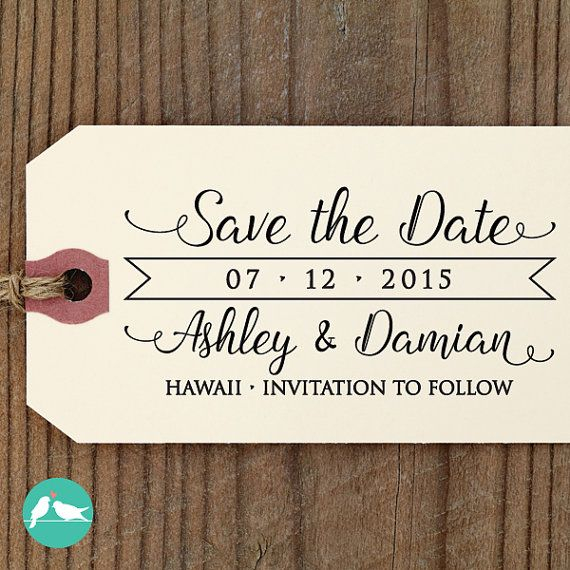SAVE the DATE Stamp Custom Save The Date Stamp Self Inking