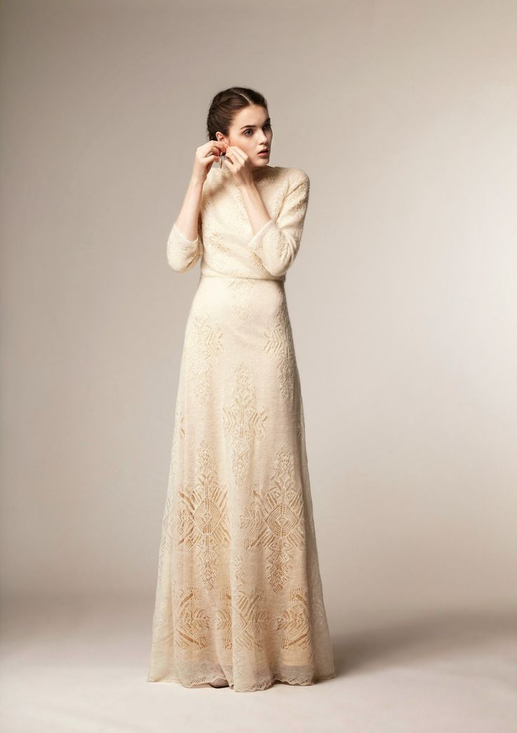 Sukaaaa. Beautiful modest full-length dress with sleeves from A La Russe at Mode-sty