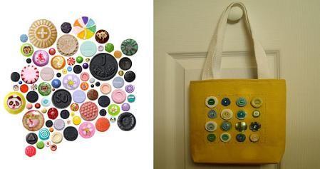 Simpático bolso con botones: Everywhere, Practico Bolso, Handbag, Button, Bag, Take Away, Práctico Bolso, Simpático Bolso
