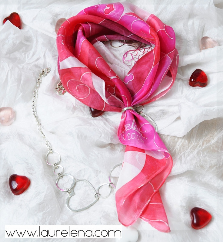 "Scarf ""Pink"" by Laurelena  http://www.etsy.com/shop/LaurelenaArt"