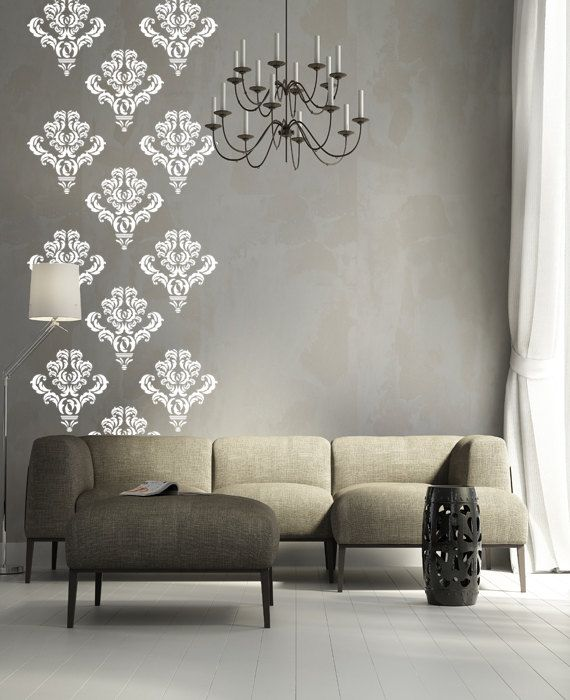 Beautiful 10 Damask Wall Decal Art Decor Stickers On Etsy By Happywallz Part 28