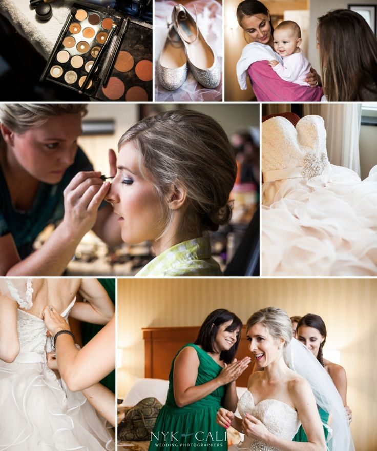 Nyk + Cali Wedding Photographers | Franklin, TN | The Factory | Getting Ready | Makeup | Unforgettable Beauty | Gown | Getting Dressed | Bridesmaids | Green | Dresses |