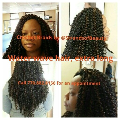 Crochet Braids Salon : Crochet Braids by Strands of Beauty. Extra long water wave hair in ...
