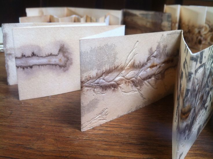 Alice Fox. Tide Marks books - I believe this is tea and rust prints with…