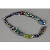 25 Venetian millefiori beads of exceptional quality - Beads - African jewels - African Art from Mali & Burkina Faso