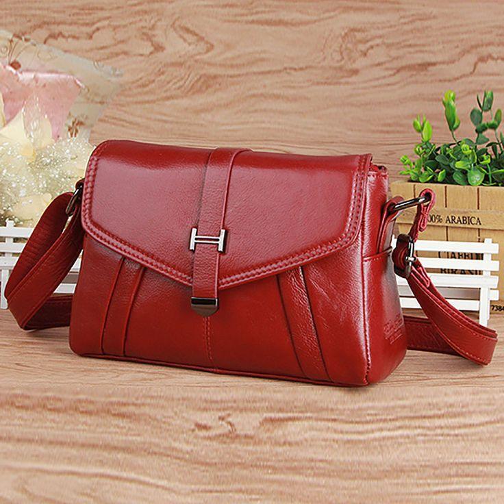 Fashion Women Genuine Leather Messenger Shoulder Bag Hobo Cross Body Satchel