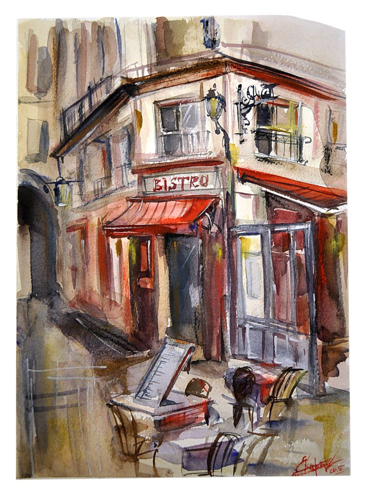 Watercolor by Elena Kartashova