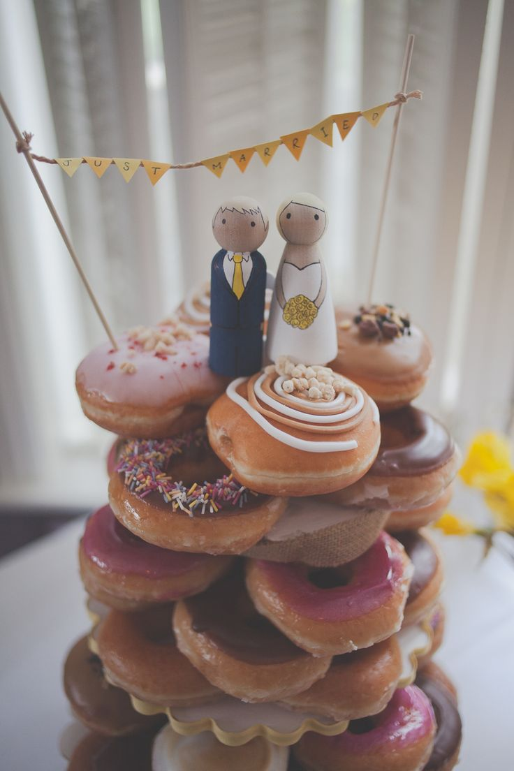 Krispy Kreme Donut Wedding Cake  Creative Wedding Photography Leeds  www.sallytphotography.com