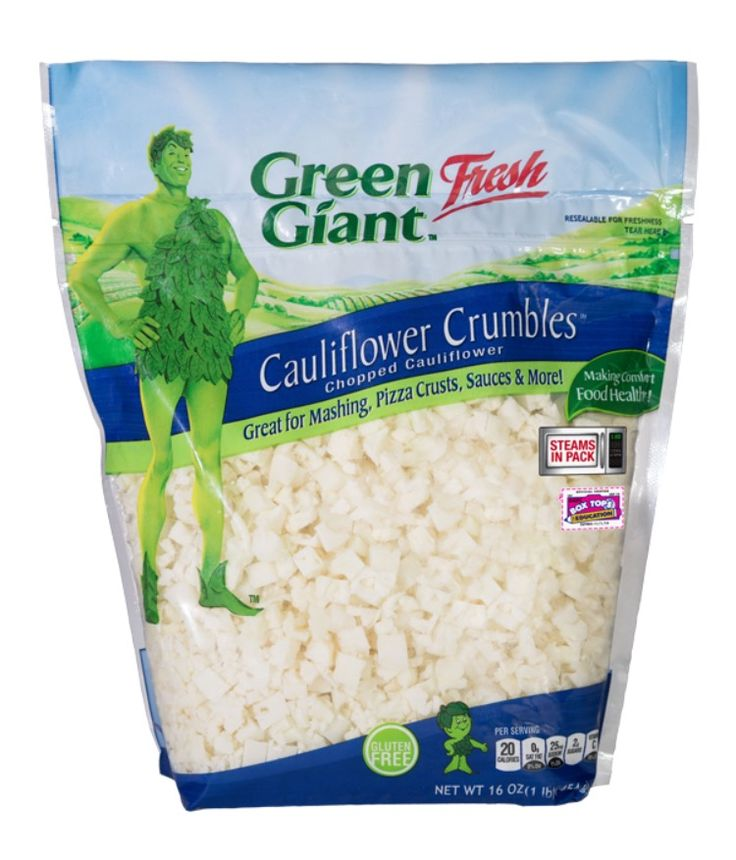 Pizza Crust using Green Giant Fresh Cauliflower Crumbles