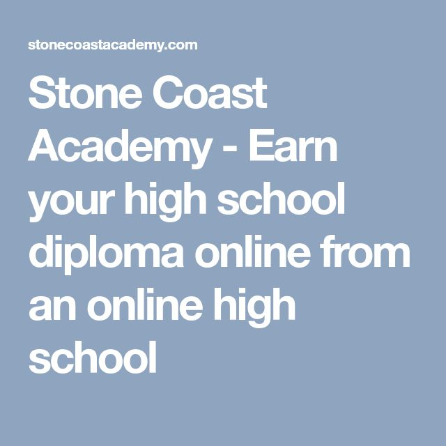 Stone Coast Academy - Earn your high school diploma online from an online high school