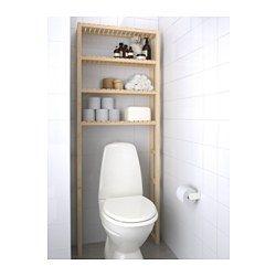 MOLGER Öppen förvaring, björk - 68x18x182 cm  Köpa 2? En ovanför toalett och en ovanför tvättkorg?