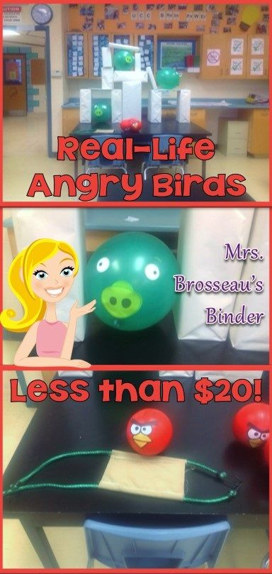 Make a real-life Angry Birds game for your class for less than $20!  Find out how at Mrs. Brosseau's Binder blog.