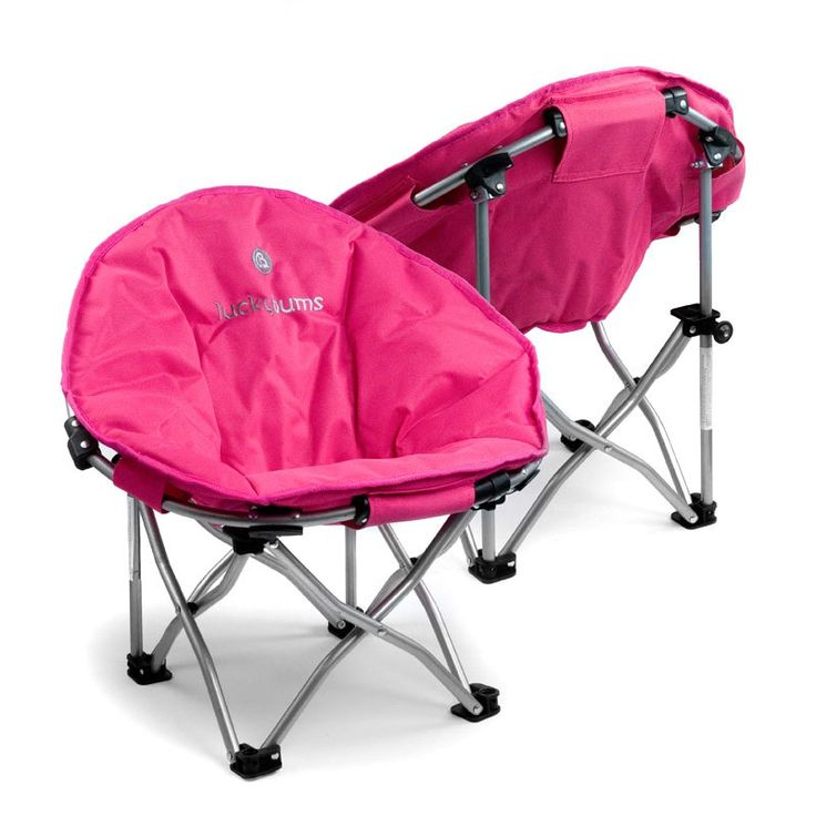 Outdoor Lucky Bums Youth Moon Camp Chair - Large Pink - 182PKL