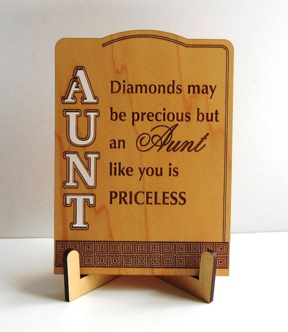 Aunt GiftGift for Aunt Aunt Appreciation Thank by Greatwoodengifts