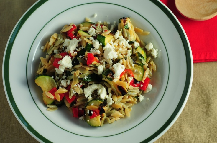 Mediterranean Orzo Salad With Grilled Vegetables Recipe ...