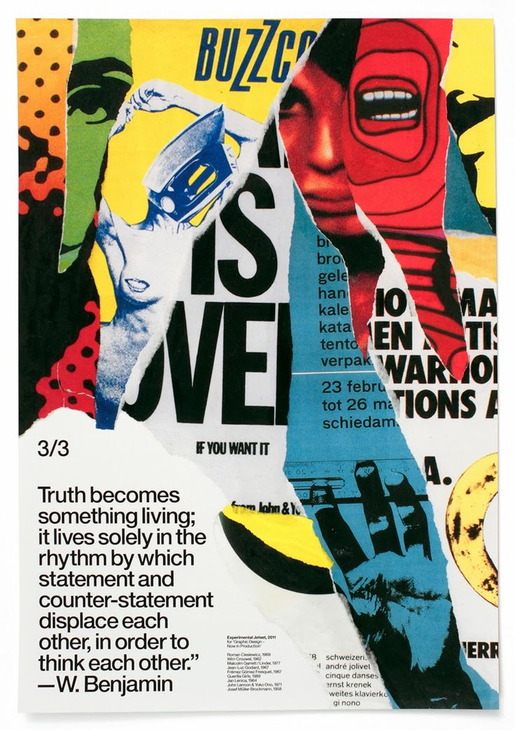 Dada inspired poster design; Designer: Unknown