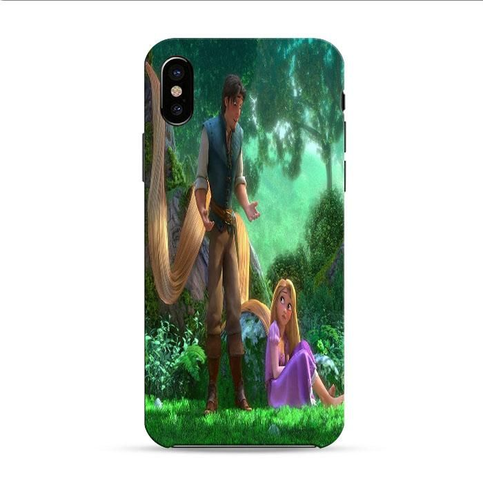 Tangled Cartoon Rapunzel iPhone X 3D Case