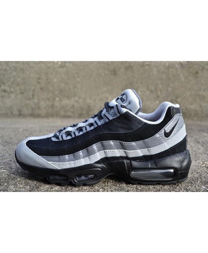 89650ab0e6e8 Nike Air Max 95 Black Wolf Grey Trainers | nike air max 95 grey ...