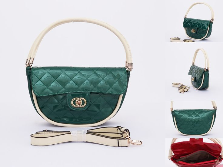 Tas candy oval cantik. Bisa bahu dan selempang. Model cute elegan. Warna hijau. Uk 28x17