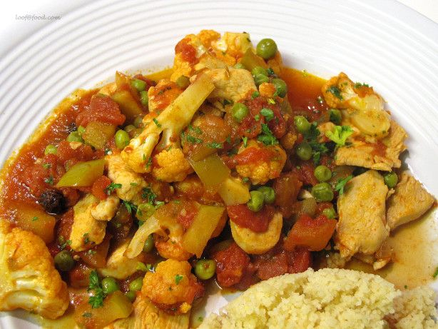 Chicken Cauliflower Curry.  This dish is great with Indian Raita - (also pinned)