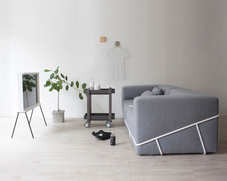 Frame sofa with kvadrat