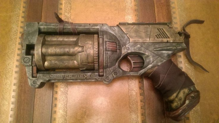 Cosplay prop. Steampunk / Wasteland gun - Nerf Maverick, Silver