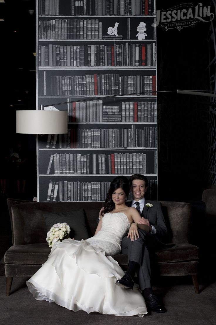 #ThompsonHotel #Toronto #wedding #bride #groom #love #lace #gown #boquet #JessicaLinPhotography