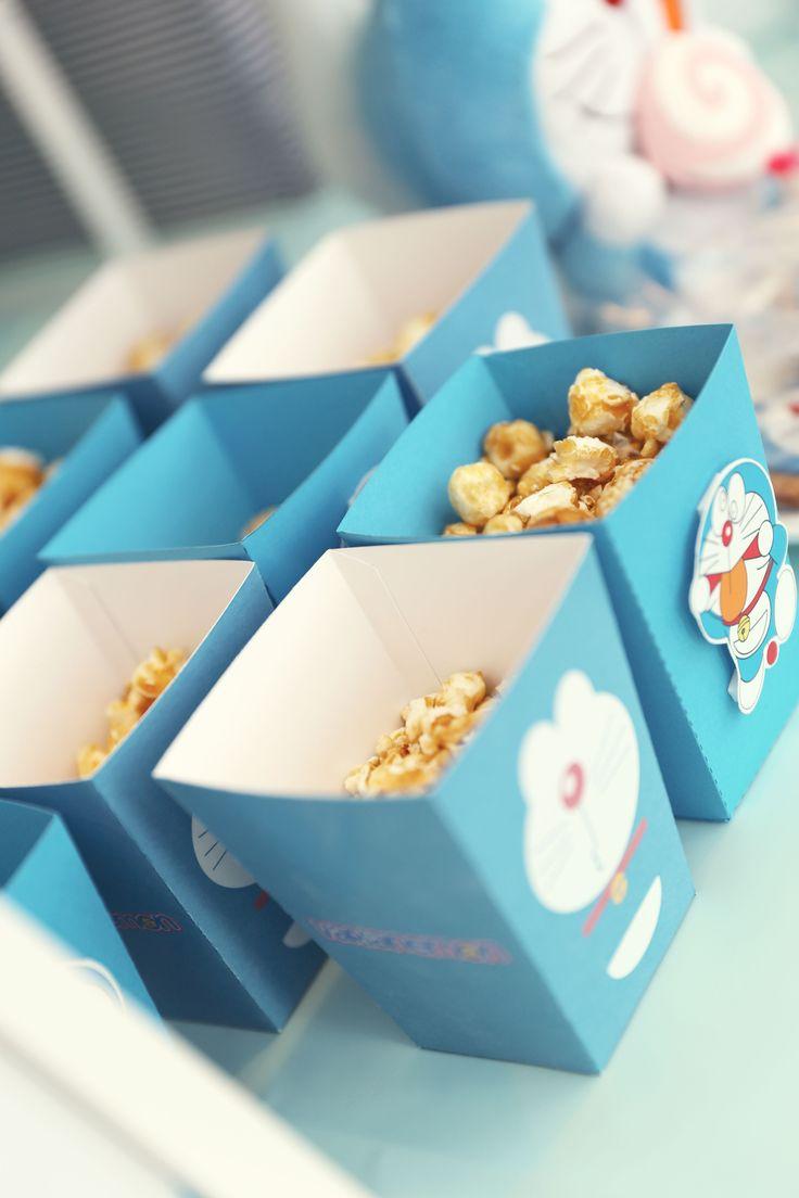 Customised Doraemon Theme popcorn boxes