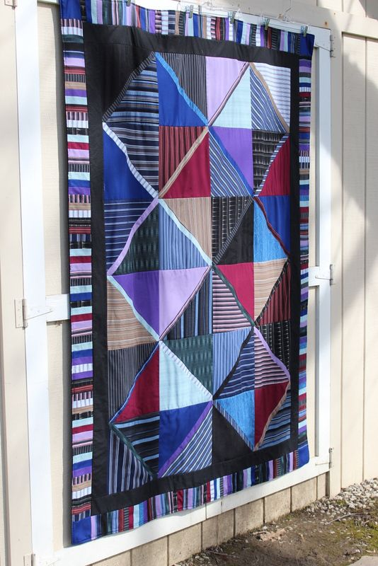 Button Down Shirt Memory Quilt Blanket With Piano Key