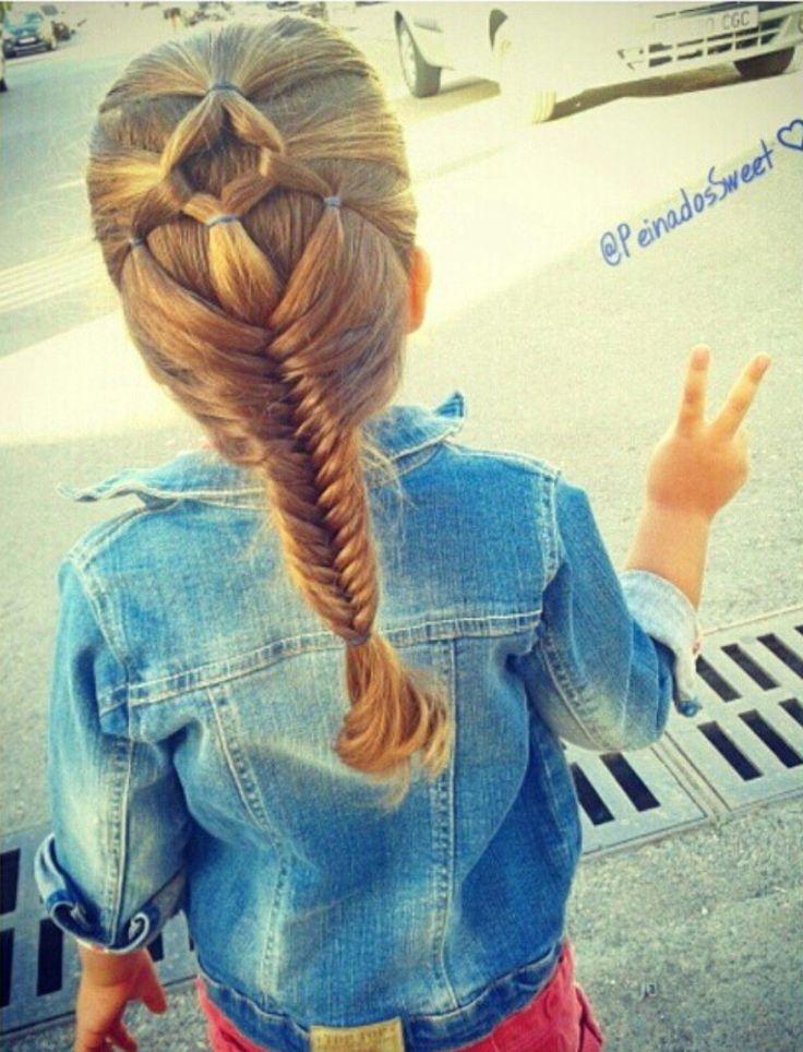 hair veil and fishtail braid