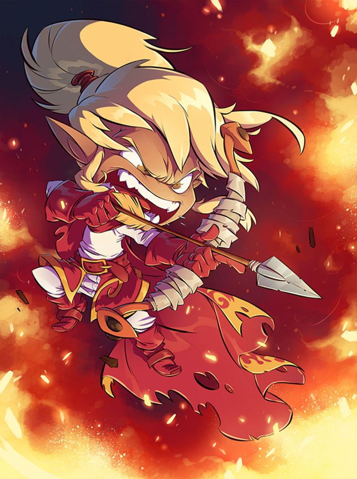 This art is part of a collaboration with Ankama Games for the realization of Krosmaster Arena