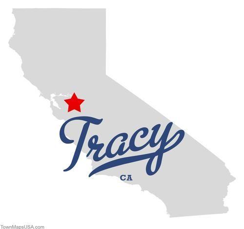 Map of Tracy California CA