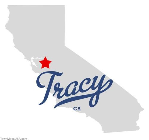 Map of Tracy California CA
