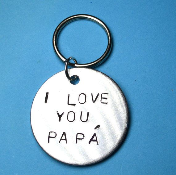 Father gift Dad gift Dad keyringDaddy by BeesHandStampedGifts