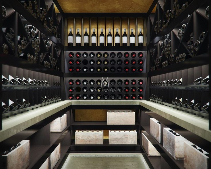 Custom Home Basement Wine Cellar
