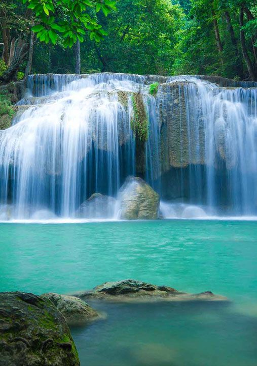 Erawan National Park, Erawan Falls, Thailand - Travel