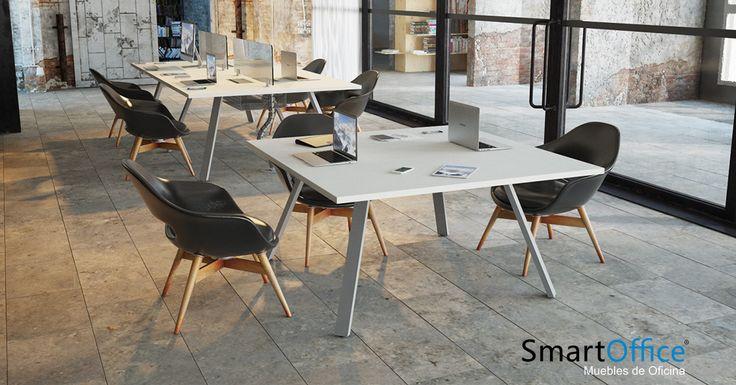 ▪️Mesas S-66 ▪️Nacidas para cubrir las necesidades de la oficina moderna. __________________ #diseño #mueble #art