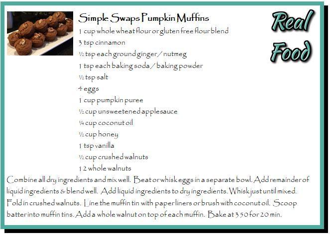 Simple Swaps Pumpkin Muffins