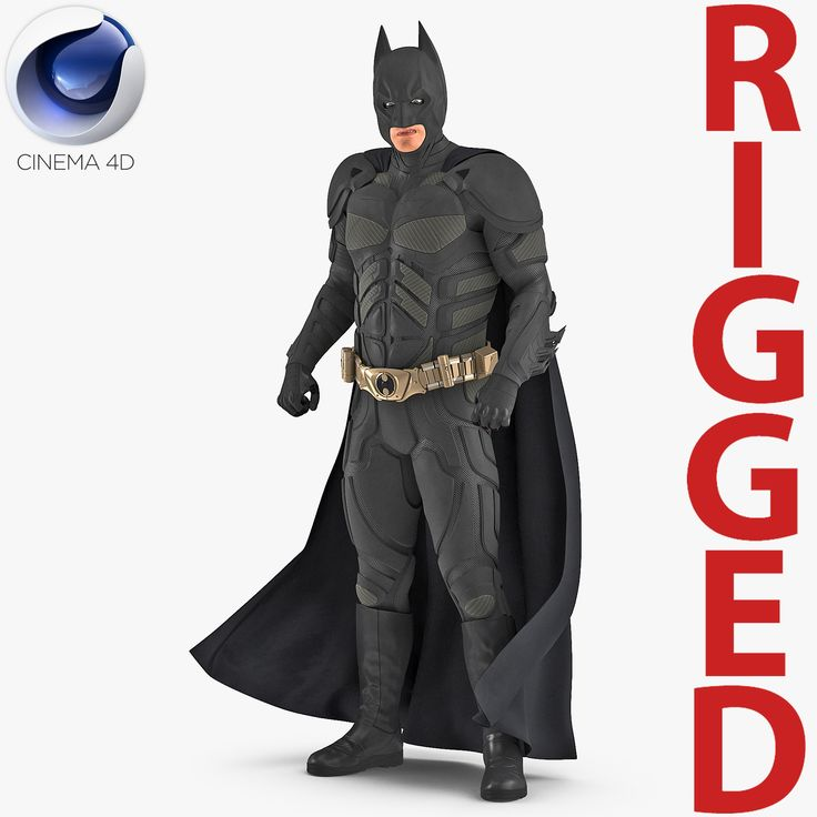 3D Batman Rigged for Cinema 4D model