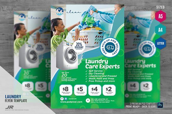 Laundry Cleaning Shop Flyer Clean Laundry Flyer Laundry Service