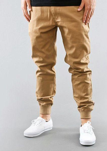 Casual joggers khaki glamorous men style fashion for Mens khaki shirt outfit