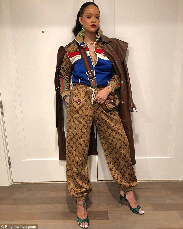 Rihanna, 30, flaunted her sartorial excellence once again as she took to Instagram on Wednesday with an head to toe Gucci snap.
