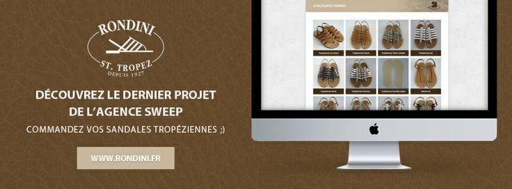 Projets // Création du nouveau Site internet avec vente en ligne pour Rondini, fameuses sandales créées et fabriquées à Saint-Tropez par la famille Rondini depuis 1927 www.rondini.fr #rondini #SaintTropez #sandales #tropeziennes