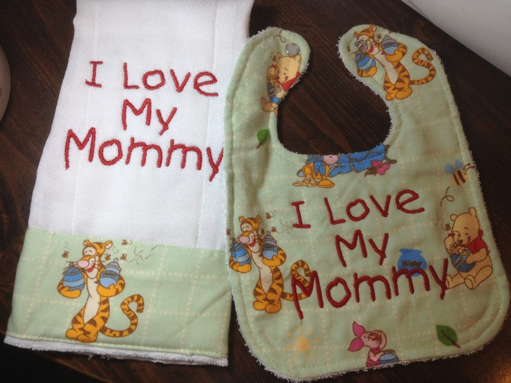 118 best winnie the pooh images on pinterest carving pumpkins personalized winnie the pooh bib and burp cloth 1250 via etsy negle Image collections