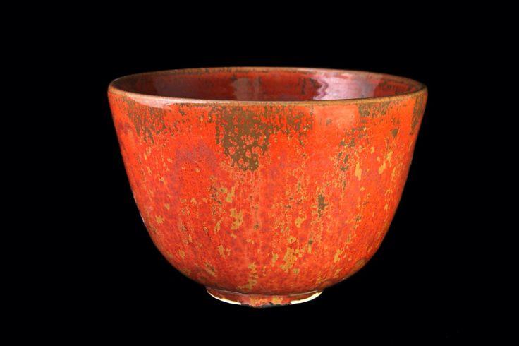Bowl 18 cm Handthrown Stoneware Red LiLo Ceramics
