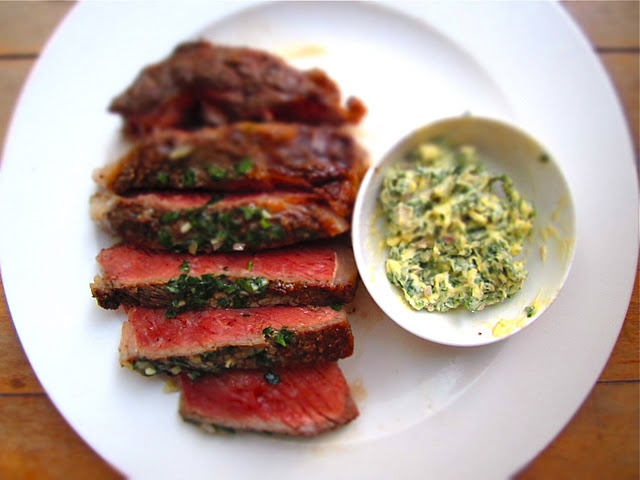 Pan-Roasted Dry-Aged Rib Eye Steak with Parsley ButterRibs Eye Steak, Rib Eye Steak, Dry Ag Ribs, Age Ribs, Absolute Incredibles, Dryag Ribs, Steak Dinner, Red Meat, Parsley Butter