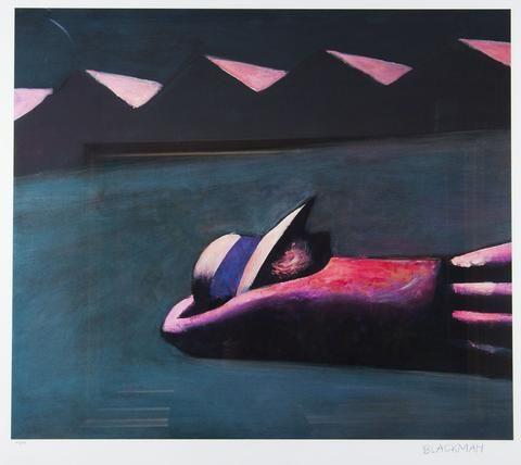 Charles Blackman 'Prone Schoolgirl' - pigment print on paper – Angela Tandori Fine Art