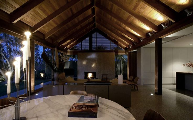 Tall Dark Sexy Interior Design Beams Arched Ceiling